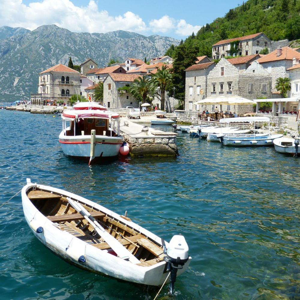 Stadje aan het water Montenegro