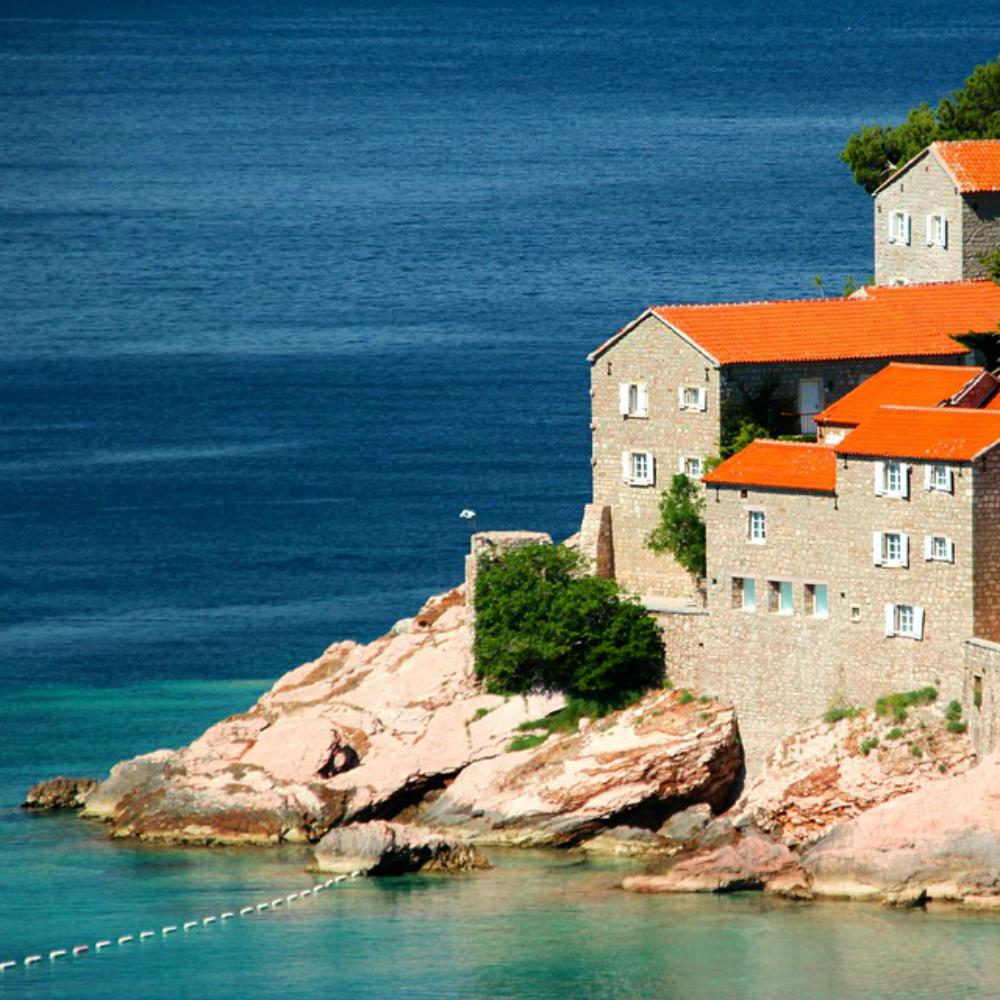 Huisje aan de zee Montenegro